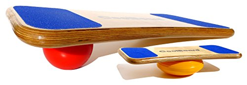 """CoolBoard Balance Board –The only true 3D / 360 balance & exercise training board – Large with Easy Start Balance Disc & Quickness Speed 5"""" Pro Ball. Wobble Board, rocker board, balance trainer by CoolBoard"""