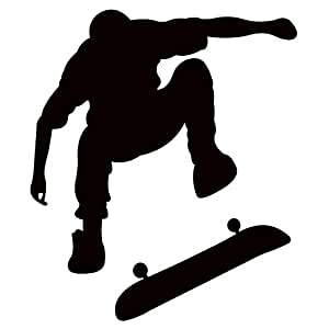 Amazon Com Thevinylguru Skateboarding Wall Decal Sticker