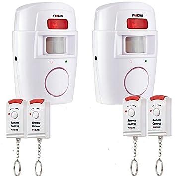 Fuers - Alarma del Sensor de Movimiento de casa Fuers Alarma hogar de Movimiento + 2 mandos a Distancia (2 piezaA): Amazon.es: Bricolaje y herramientas