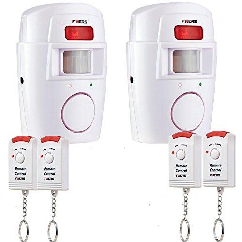 Fuers - Alarma del Sensor de Movimiento de casa Fuers Alarma hogar de Movimiento + 2 mandos a Distancia (1 Pieza): Amazon.es: Bricolaje y herramientas