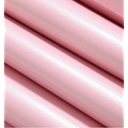 Bestevers Solid Color Pearl Film Vinyl Self Adhesive Counter Top Peel Stick Wallpaper Decal,24''x79'' (Pink)