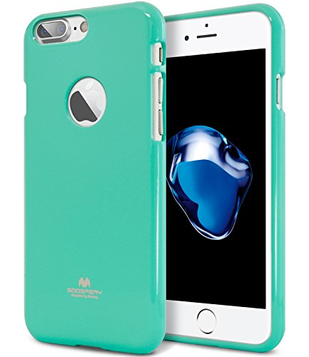 Goospery Pearl Jelly for Apple iPhone 7 Plus Case (2016) Slim Thin Rubber Case (Mint) IP7P-JEL-MNT
