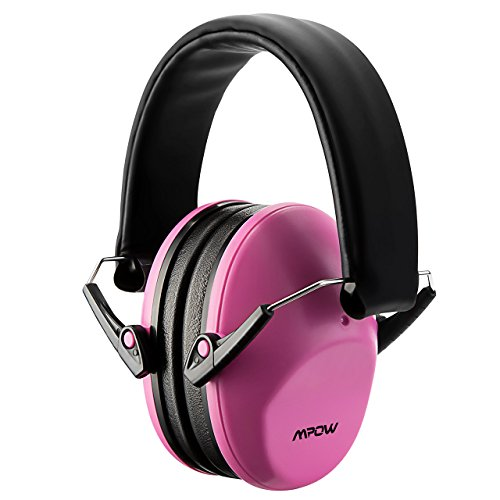 Mpow 068 Kids Ear Protection Safety Ear Muffs, NRR 25dB Noise Reduction Hearing Protection for Kids, Toddler Ear Protection for Shooting Range Hunting Season for Kids Toddlers Children (Pink)