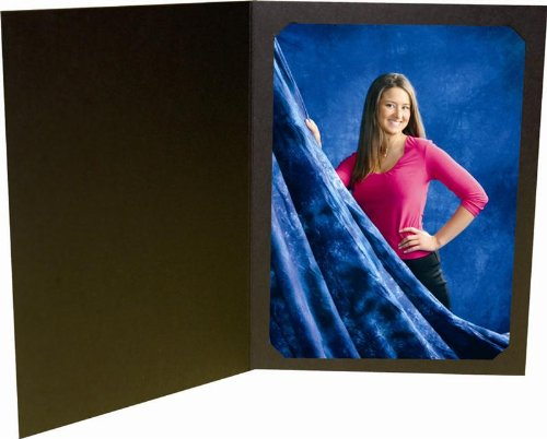 Black Photo Folder for 5x7/4x6 (Pack of 50) Cut corners