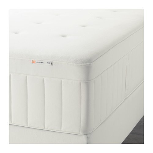 Ikea HESSTUN Spring mattress (queen size), firm, white 828.22314.1414