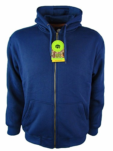 Navy Premier Buffalo (Buffalo Outdoors Men's Premier Full Zip Work Hoodie Jacket [3 Colors] (Navy, 2XL))
