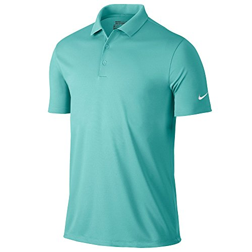 Nike Golf Victory Solid Polo (Light Aqua/White) (Large)