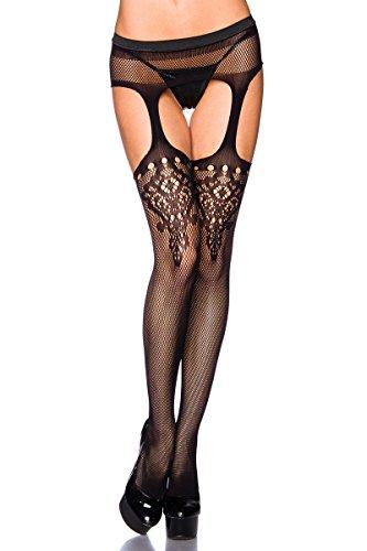 ILAVO® Straps Stockings - Netzstrümpfe mit ausgefallenem Muster