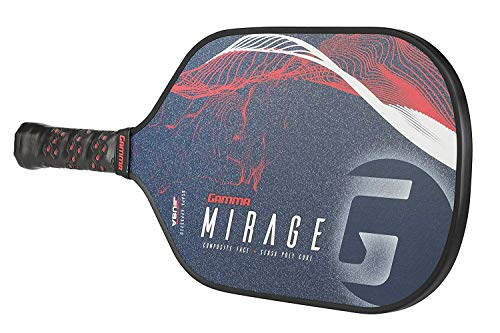 GAMMA Mirage Composite Pickleball Paddle: Pickle Ball Paddles for Indoor & Outdoor Play - USAPA Approved Racquet for Adults & Kids - Red/White/Blue by Gamma (Image #4)