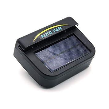 Alaojie Solar Powered Car Window Windshield Auto Air Vent Cooling Fan Cooler Radiator Ventilator