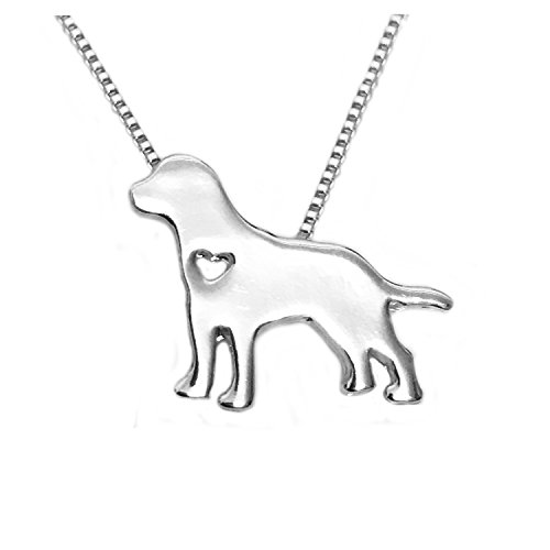 WeiVan Labrador Necklace Labrador Retriever Jewelry Pet Memorial Dog (Labrador Retriever Jewelry)