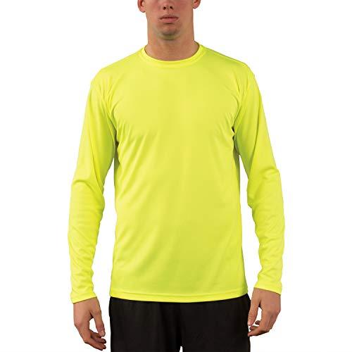 Vapor Apparel Men's UPF 50+ UV Sun Protection Performance Long Sleeve T-Shirt Large Safety Yellow