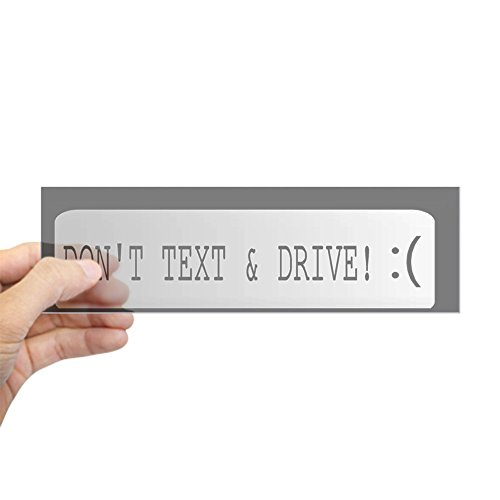 CafePress Don't Text and Drive Emoticon Bumper Sticker 10