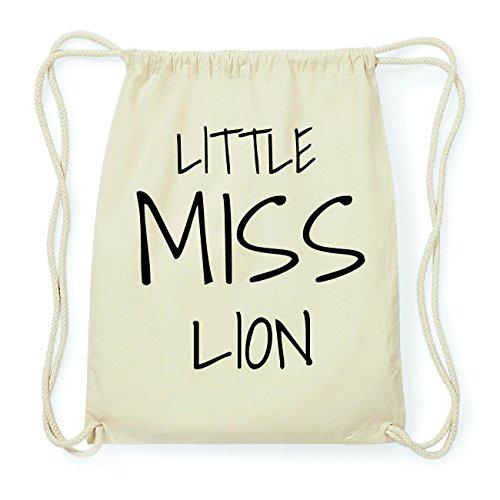 JOllify LION Hipster Turnbeutel Tasche Rucksack aus Baumwolle - Farbe: natur Design: Little Miss
