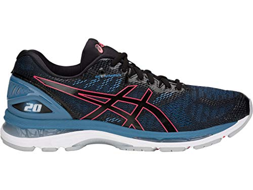 (ASICS Women's Gel-Nimbus 20 Running Shoes, 12M, Black/Azure)