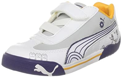d764c4cad895c Puma Unisex-Kids Speed Cat 2.9 Lo Robot V White-Silver Court Trainer  30342605