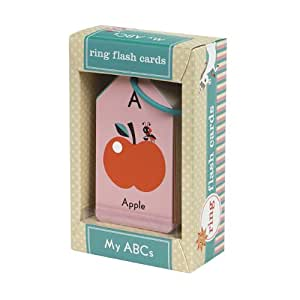 Mudpuppy My ABCs Flash Cards for Ages 3 to 5 – 26 Two-Sided Alphabet Cards with Fun Artwork on a Reclosable Ring