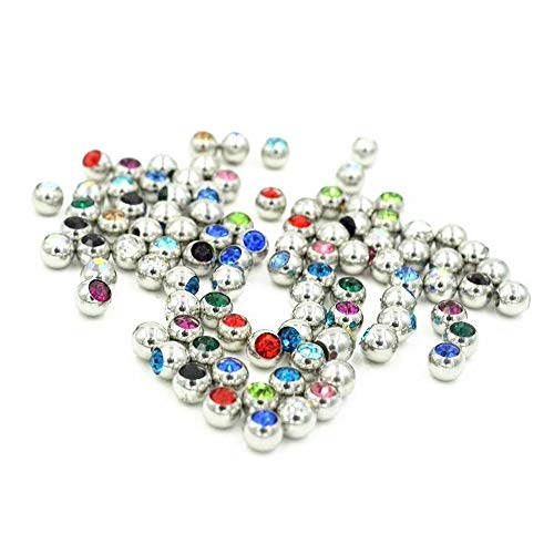 Jeweled Replacement - BodyJewelryOnline 200 Jeweled Replacement Beads