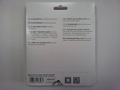 TCM Tchibo 6 x Eierlöffel aus kratzfestem Kunststoff Löffel