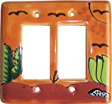 Desert Talavera Double Decora Switch Plate