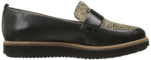 Black Clarks Glick Women's Leather Flat Avalee Haircalf Printed RIIvWn
