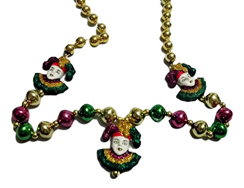 3 Glitter Jesters Mardi Gras Beads Party Favor (Glitter Bead Necklace)
