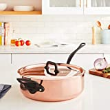 Mauviel M'Heritage M150C Copper Saute Pan with