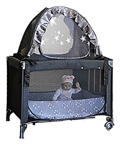 Popup Crib Tent to fit Mini Cribs - Pack n Play Travel Cribs - Keep Your Baby from Climbing Out of The Crib and so Much More