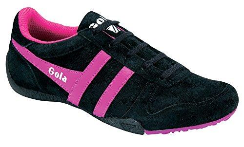 Gola Damesmode Fashion Sneaker Zwart / Fucsia