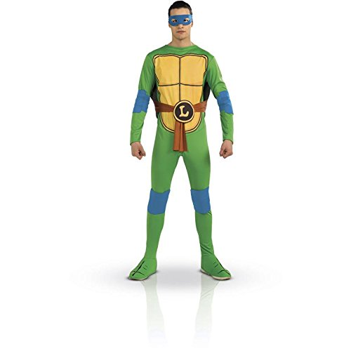 Tmnt Costumes For Adults - Nickelodeon TMNT Adult Leonardo and Accessories, Green, Standard Costume