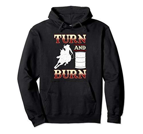 Turn And Burn Hoodie - Barrel Racing ()