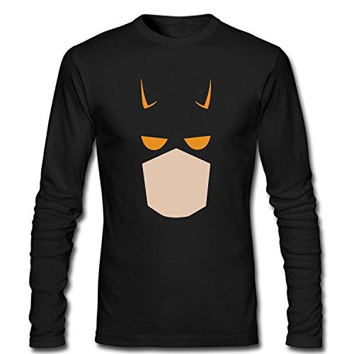 [TOTOT Men's Daredevil Cartoon Comics Costume Double D Long Sleeve Cotton T Shirt black XXL] (Daredevil Black Costumes)