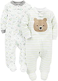 Baby 2-Pack Cotton Footed Sleep and Play