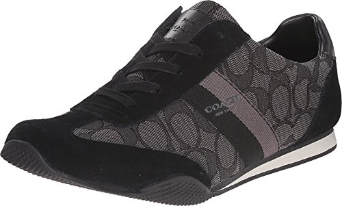 Coach Womens Kelson Signature Sneaker,Black Smoke Black,7.5 M US