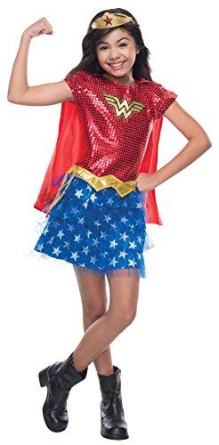 Wonder Woman Tutu Child Costume (UHC Girl's Wonder Woman Tutu Dress Funny Theme Kids Superhero Costume, Child S (4-6)