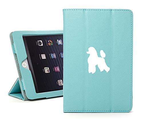 Leather Magnetic Smart Case Cover Stand for Apple iPad Poodle (for iPad Air 2, Light-Blue) ()