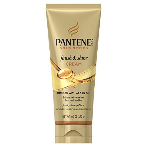 (Pantene, Shine Cream Hair Treatment, with Argan Oil, Sulfate Free, Pro-V Gold Series, for Natural and Curly Textured Hair, 6 fl oz)