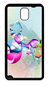 Abstract Art Pattern Custom Designer Samsung Galaxy Note 3 / Note III/ N9000 - TPU - Black