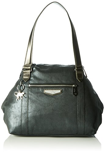 Kipling Art S, Borsa Donna Nero (Night Metal)