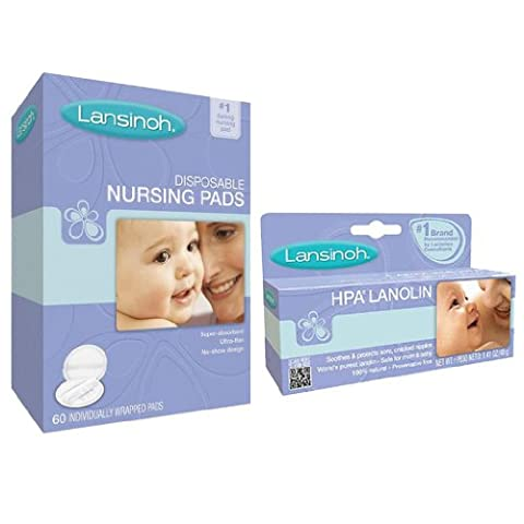 Lansinoh Hpa Lanolin For Breastfeeding Mothers with Disposable Nursing Pads - Lansinoh Disposable Breast Pads