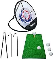 Portable Golf Hitting Net, Golf Practice Net Golf Hitting Nets,20 Inches Golf Cutting Net with Target Driving