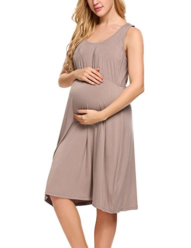 HOTOUCH - Vestido - para mujer Typ1-Taupe