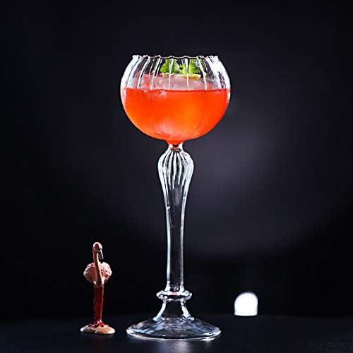 SRJSKR Creativa de Vidrio cóctel Europea de Alta pie Cóctel en Forma de Flor de Cristal Romana Columna Cóctel Personalidad Bar de vinos de Cristal Jarra de Cerveza