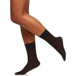 Berkshire Women's Sheer Anklet Socks, Fantasy Black, One Size