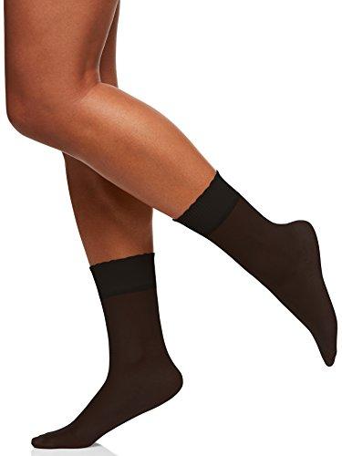 Berkshire Women's Sheer Anklet Socks, Fantasy Black, One Size