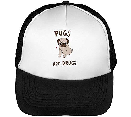 Cute Pugs Drugs Beisbol Snapback Gorras Puppy Blanco Not Hombre Negro qqZn6E