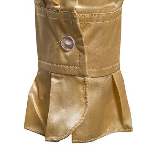 Basamento Solida Uomini Camicetta Collare Gialla Manica Casual Del Lunga Autunno Di Modo Bhydry Praty Superiore Sera Camicie wCqwS16