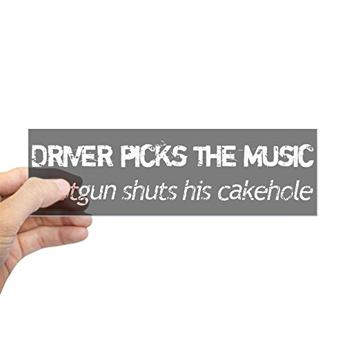 "CafePress - Driver Picks Supernatural Bumper Sticker - 10""x3"" Rectangle Bumper Sticker Car Decal"