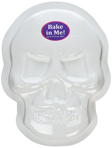 CK Products 49-3013 Plastic Skull Cake Pan, White -
