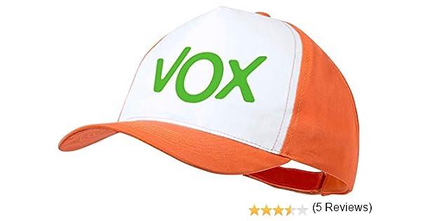 MERCHANDMANIA Gorra Naranja Logo Partido VOX Color Cap: Amazon.es ...